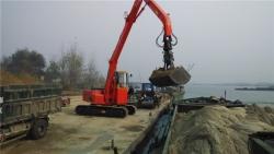 水泥厂码头卸黄沙