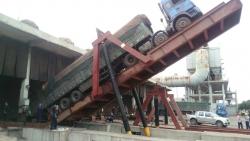 100吨卸车翻板机